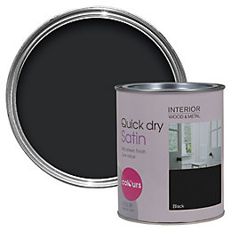 Colours Black Satin Emulsion paint 0.75L