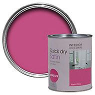 Colours Playful pink Satin Emulsion paint 0.75L