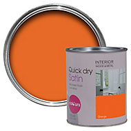 Colours Orange Satin Emulsion paint 0.75L