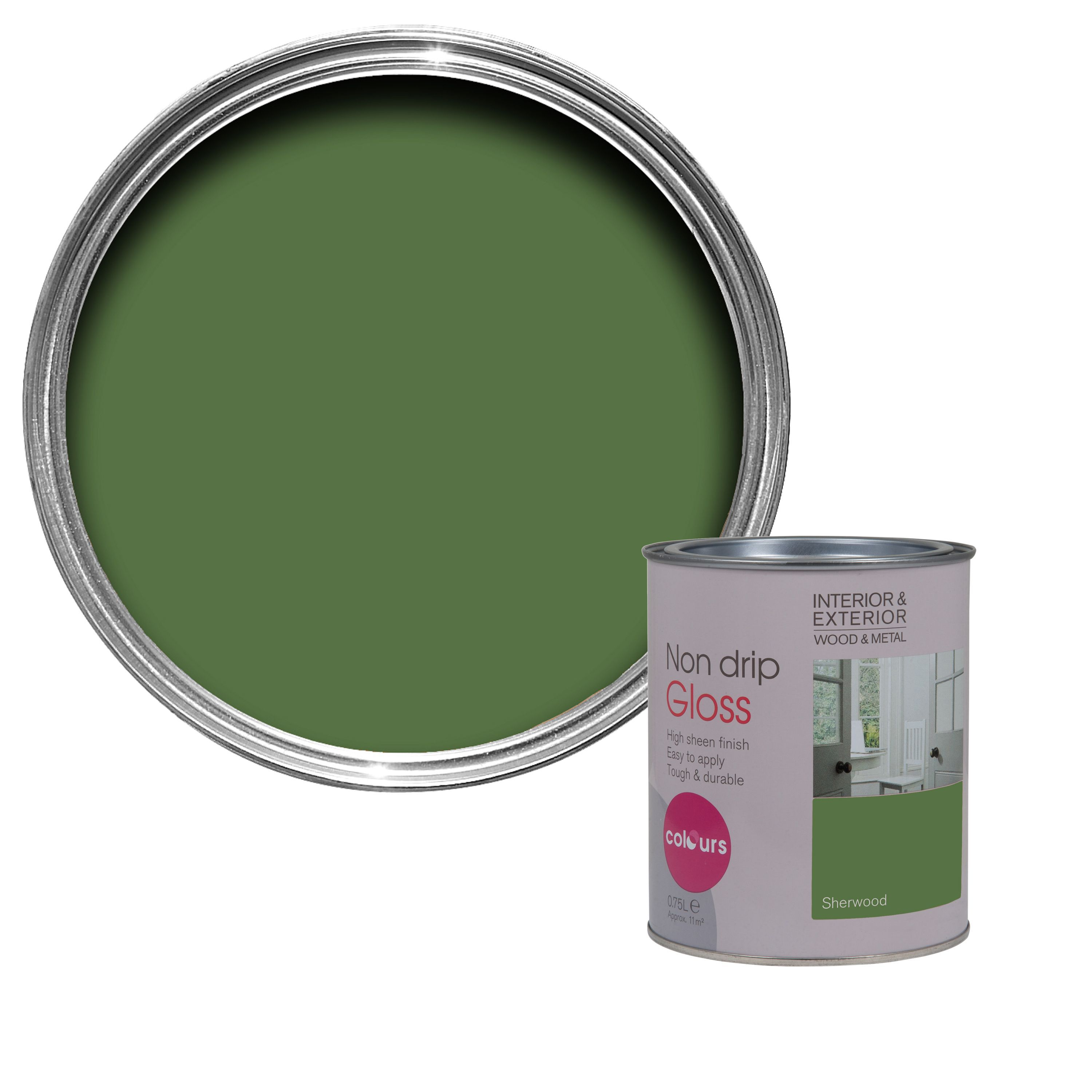 Colours Sherwood Gloss Wood Metal Paint 0 75l Departments Diy At B Q