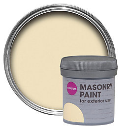 Colours Devon cream Smooth Matt Masonry paint 0.05L
