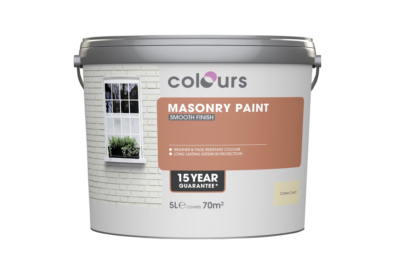 Colours Mpp Clotted Cream Smooth Matt Masonry Paint 5l