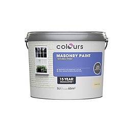 Colours Clotted Cream Matt Masonry Paint 5L