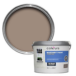 Colours Soft wholemeal brown Textured Masonry paint 5L