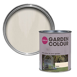 Colours Garden Ivory Matt Woodstain 0.75L