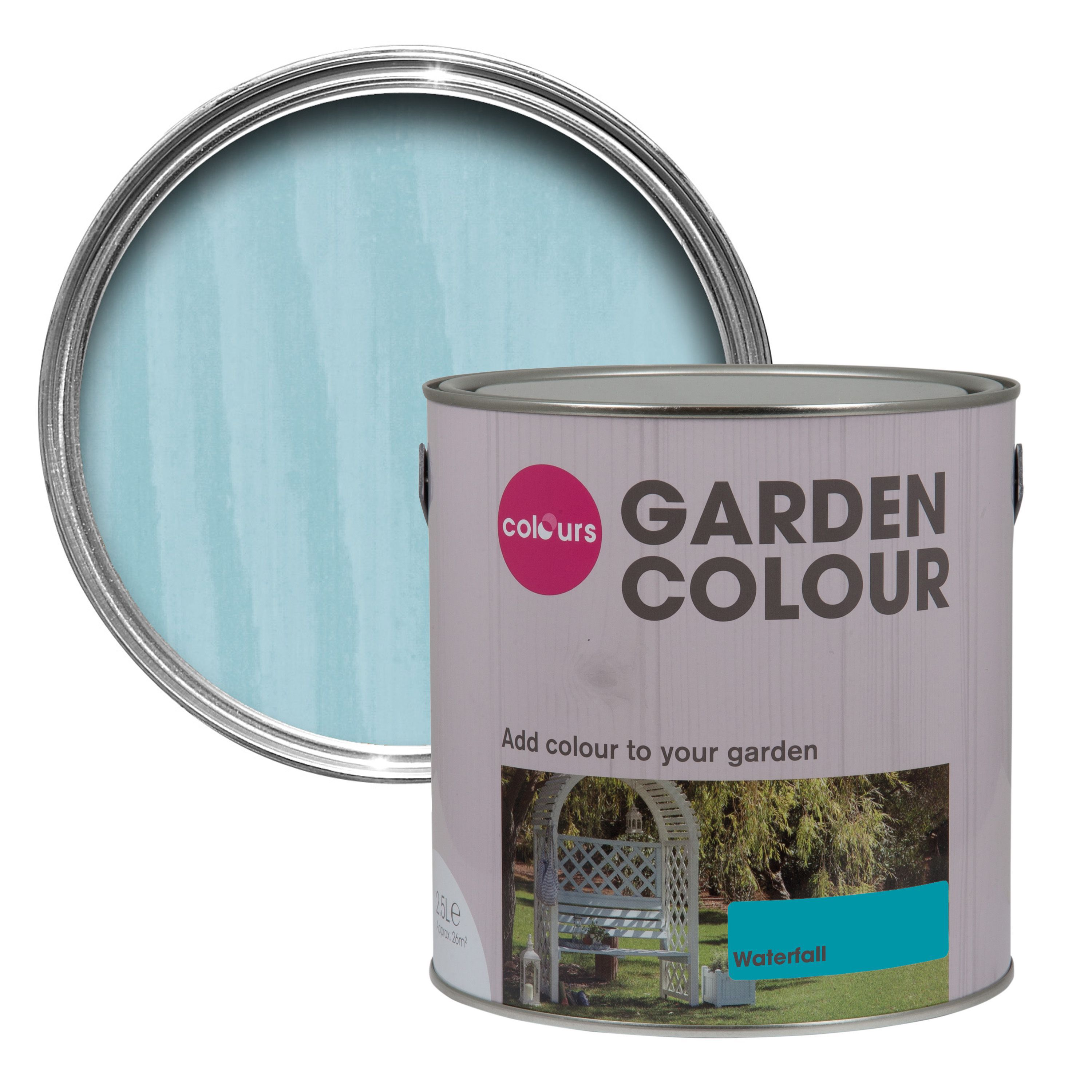Colours Garden Waterfall Matt Paint 2.5L | Departments | DIY at B&Q