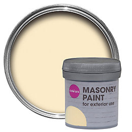 Colours Clotted cream Smooth Masonry paint 0.05L Tester