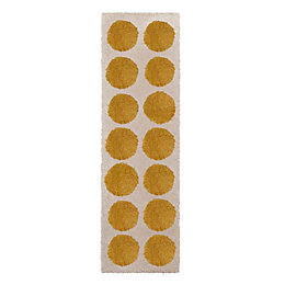 Colours Brady Cream & Yellow Spot Runner (L)2.0m