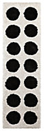 Colours Brady Black & white Spot Runner (L)2m (W)0.6 m