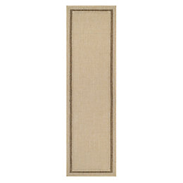 Colours Kialash Beige Synthetic Runner (L)2.0m (W)0.6m