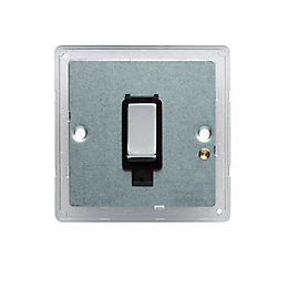 Colours 10A 2-Way Single Polished Light Switch Backplate
