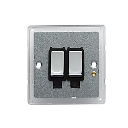Colours 10A 2-Way Double Polished Light Switch Backplate