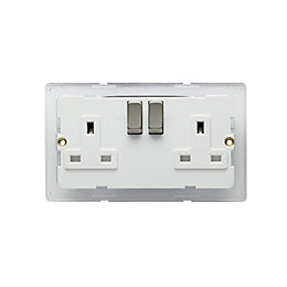 Colours 13A Switched Double Socket backplate