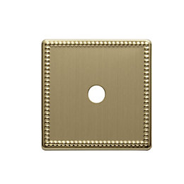 Colours Single Beaded Brass Dimmer Switch Front Plate