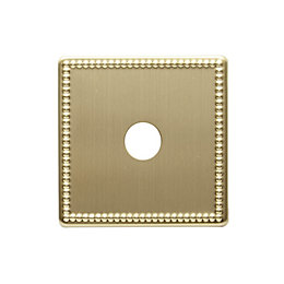 Colours Single Beaded Brass Coaxial / Dimmer Switch