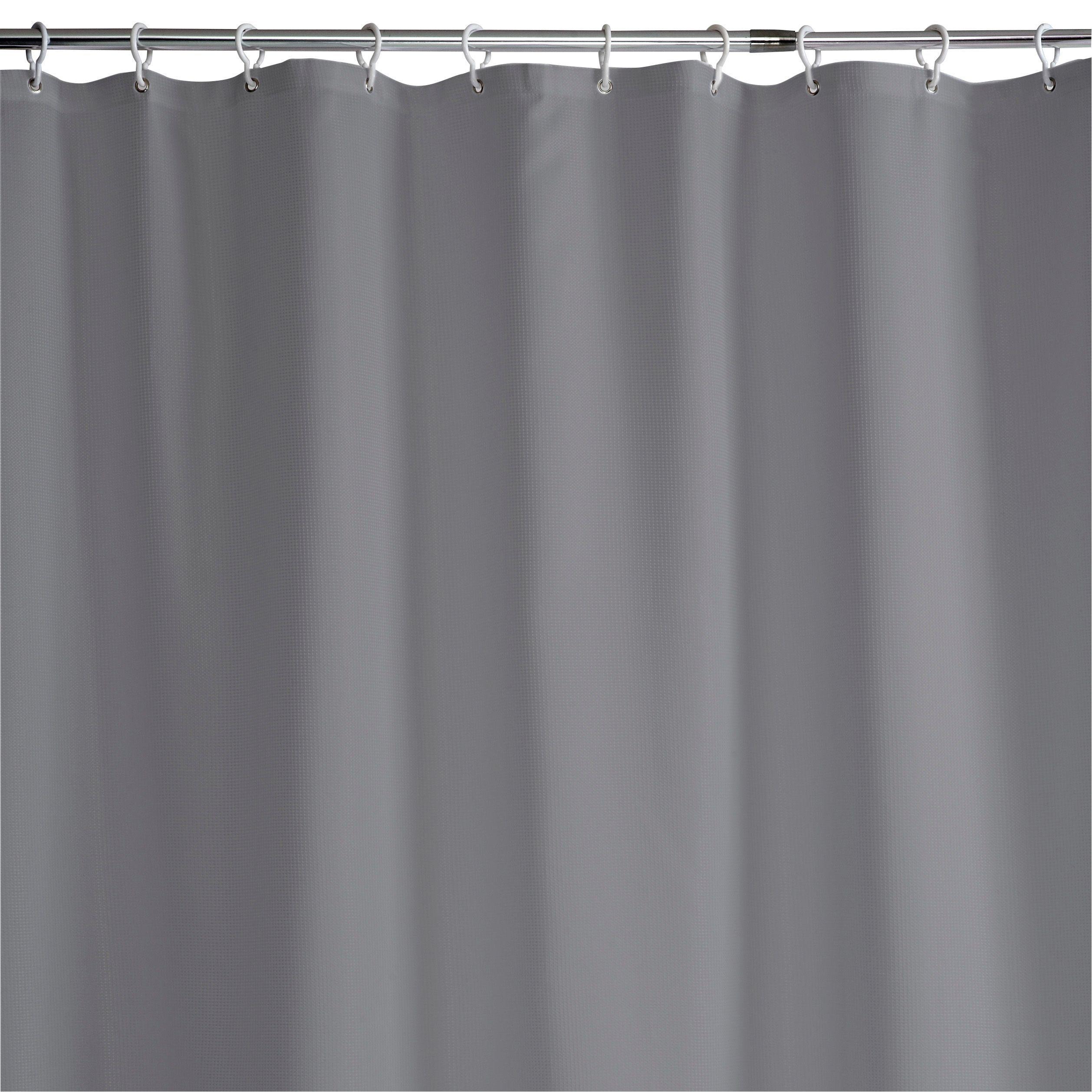 Cooke & Lewis Grey Gaisa Waffle Shower Curtain (L)1.8 M ...