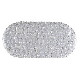 C&L Clear Pebbles PVC Anti-Slip Bath Mat (L)690mm