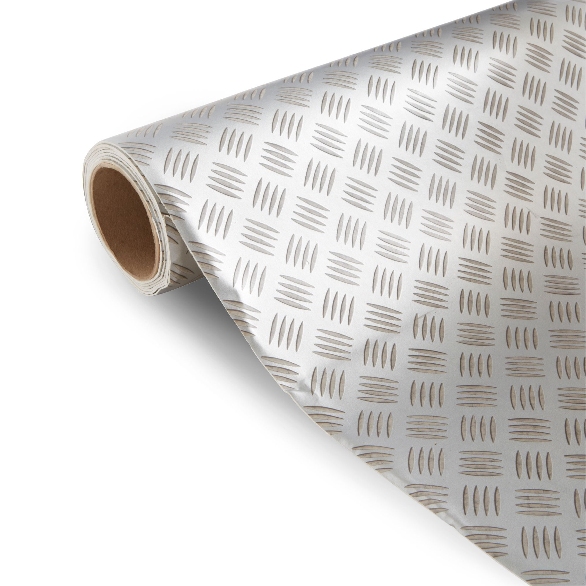 Tabla Silver Tile Effect Vinyl 6m Departments Diy At Bq