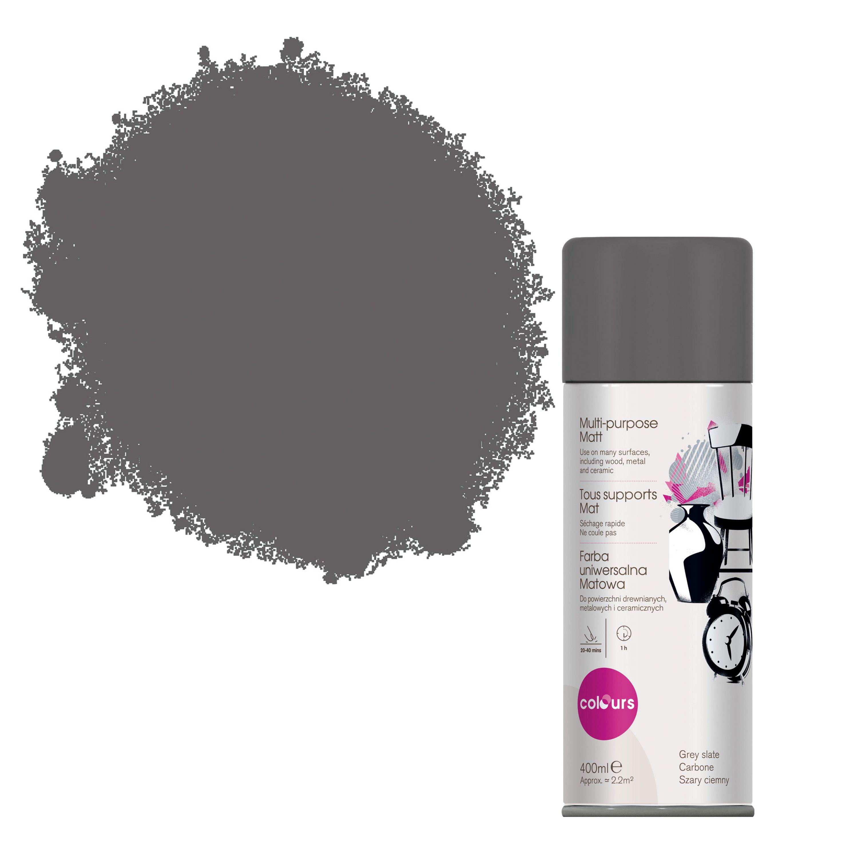 Colours Grey Slate Matt Spray Paint 400 Ml Departments