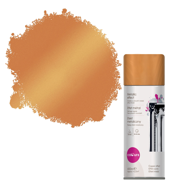Colours Copper Metallic Spray Paint 400 Ml Departments Diy At Bq
