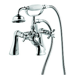 Cooke & Lewis Classic Chrome finish Bath shower