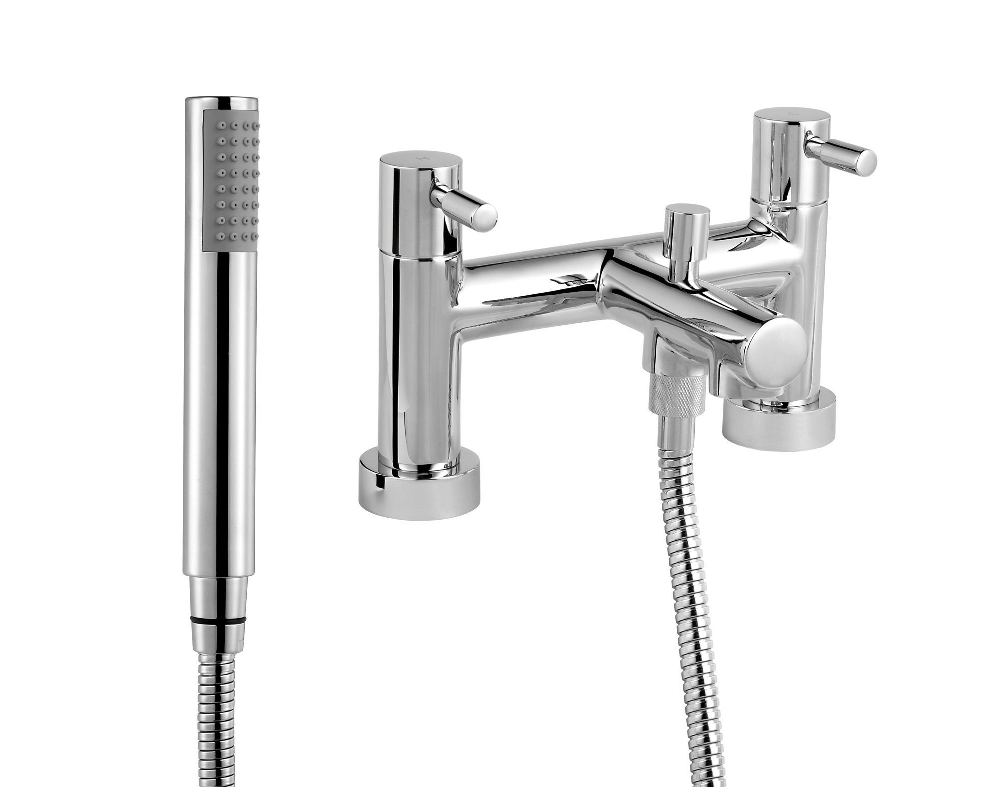 Cooke & Lewis Cirque Chrome finish Bath shower mixer tap ...