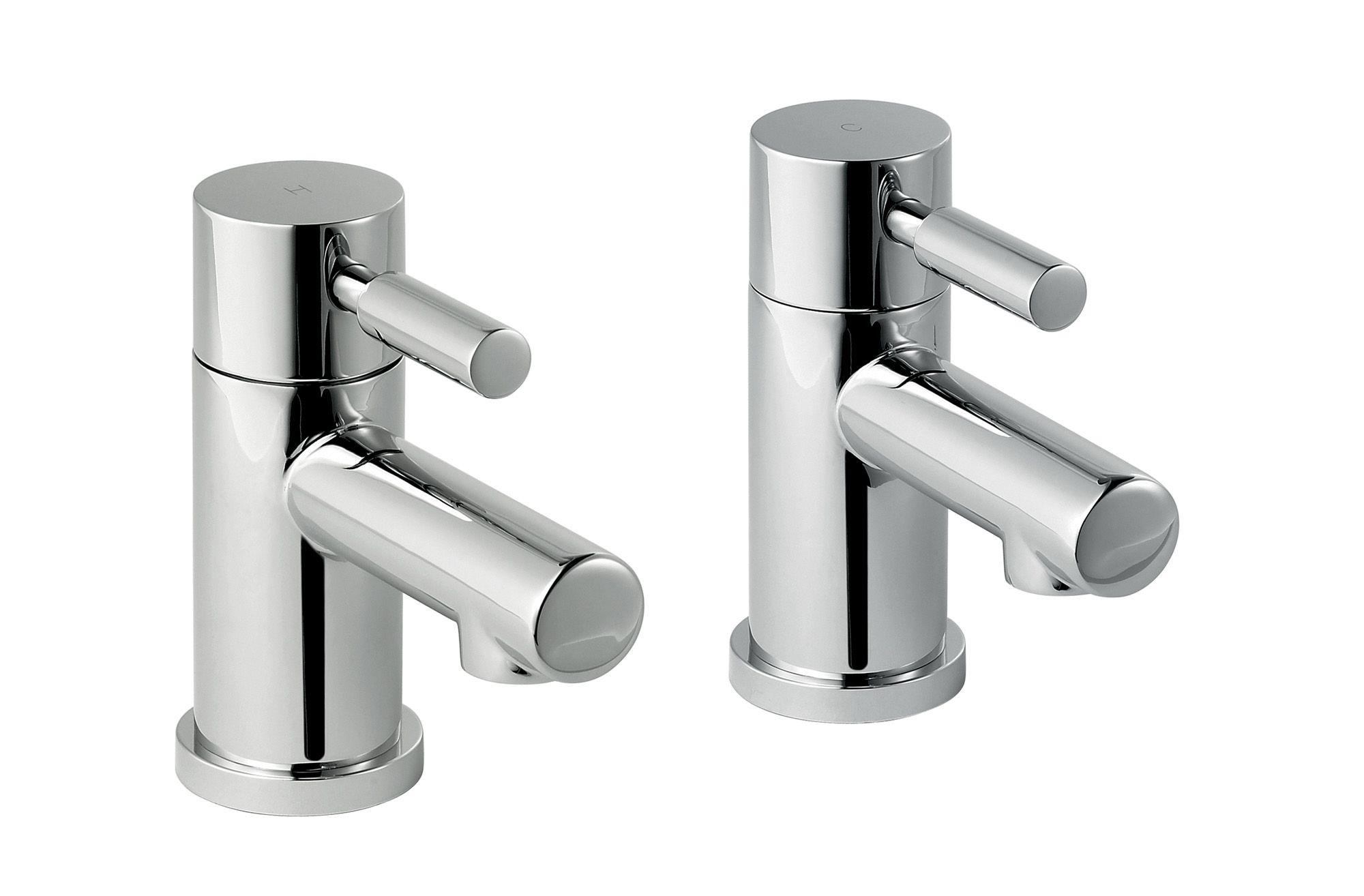 Cooke & Lewis Cirque Hot & cold basin pillar tap | Departments | DIY ...