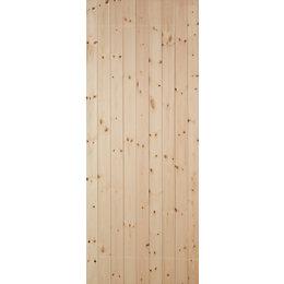 Ledged & Braced Redwood Timber Back Door, (H)2032mm