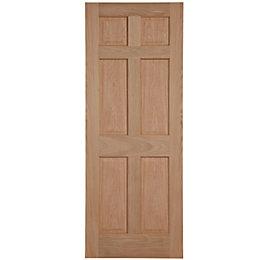 6 Panel Oak Veneer Unglazed Internal Fire Door,