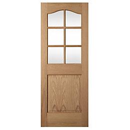 2 Panel Arched Oak Veneer Glazed Internal Standard