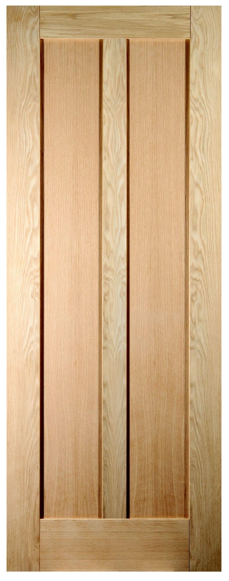 Vertical 2 Panel Oak Veneer Unglazed Internal Standard ...