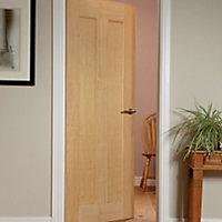 Vertical 2 panel Oak veneer Internal Door, (H)1981mm (W)762mm