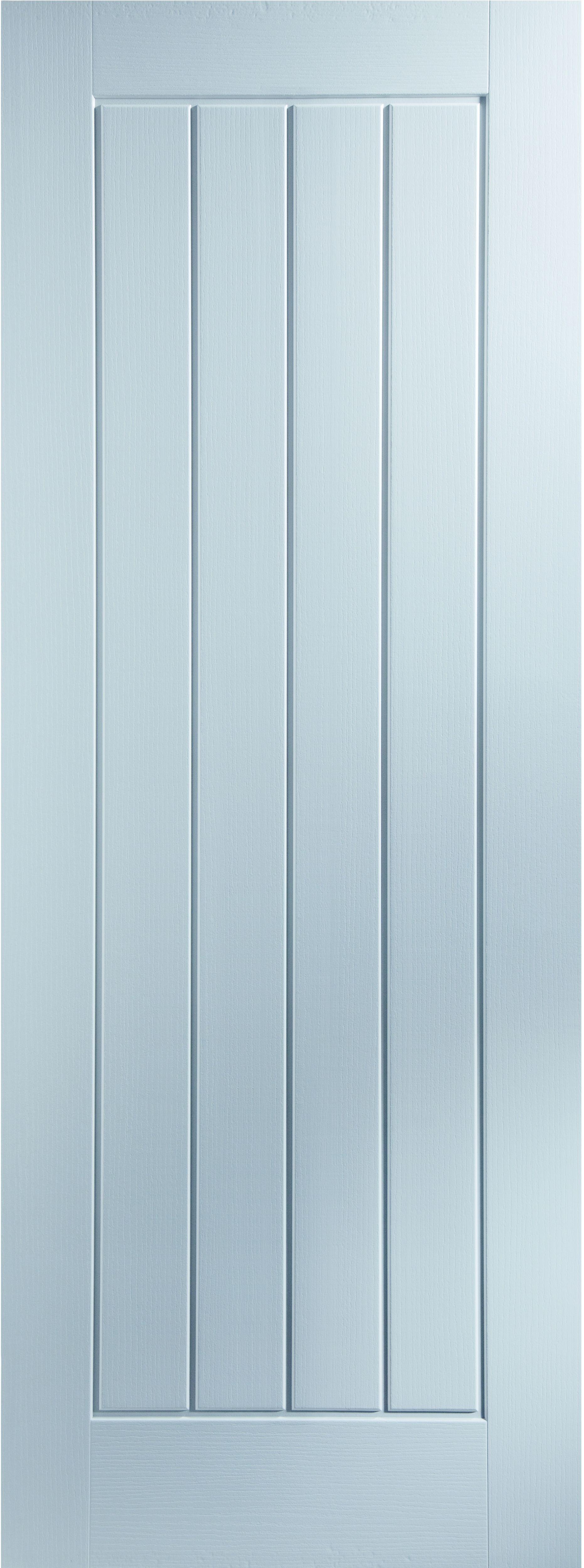 Cottage panel Primed Woodgrain Internal Standard Door, (H)1981mm