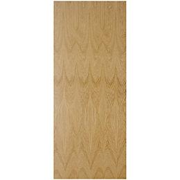 Flush Oak Veneer Unglazed Internal Fire Door, (H)1981mm
