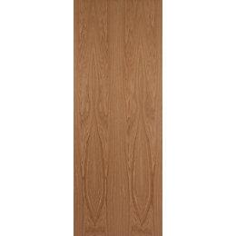 Flush Oak Veneer Unglazed Internal Standard Door, (H)1981mm