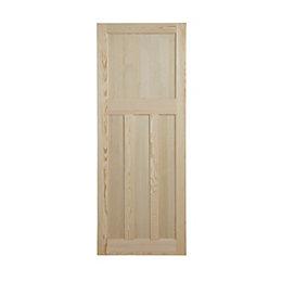 Traditional Clear Pine Unglazed Internal Standard Door, (H)1981mm