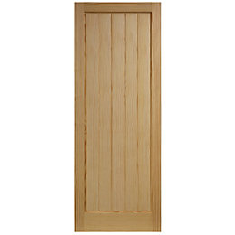Cottage Panelled Clear Pine Internal Unglazed Door, (H)1981mm