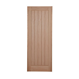 Cottage Panelled Oak Veneer Internal Unglazed Door, (H)2040mm