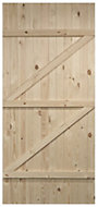 Cottage Panel Ledged And Braced Knotty pine Internal Door, (H)1981mm (W)686mm