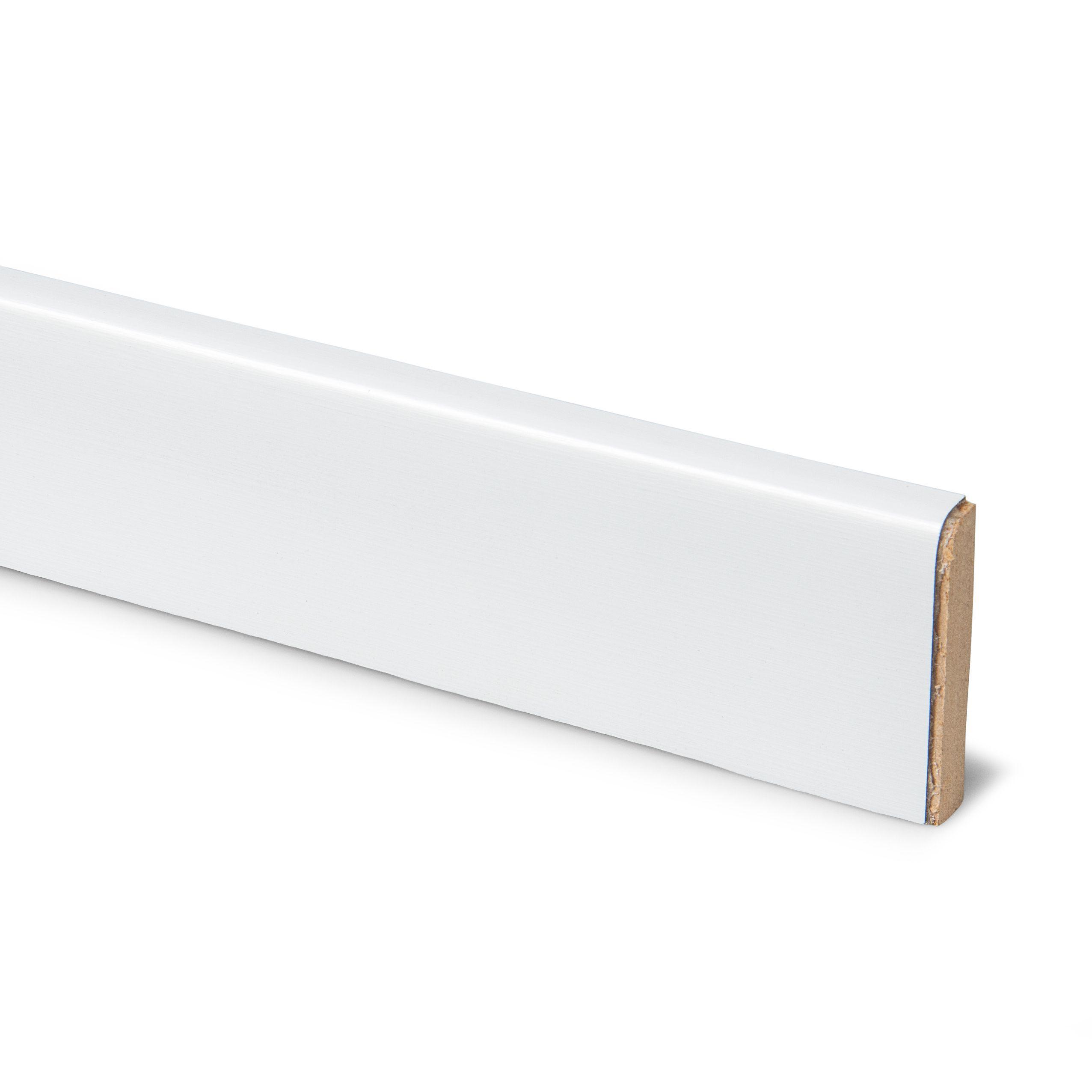 12mm Designer White Laminate Upstand   Departments   DIY at B&Q