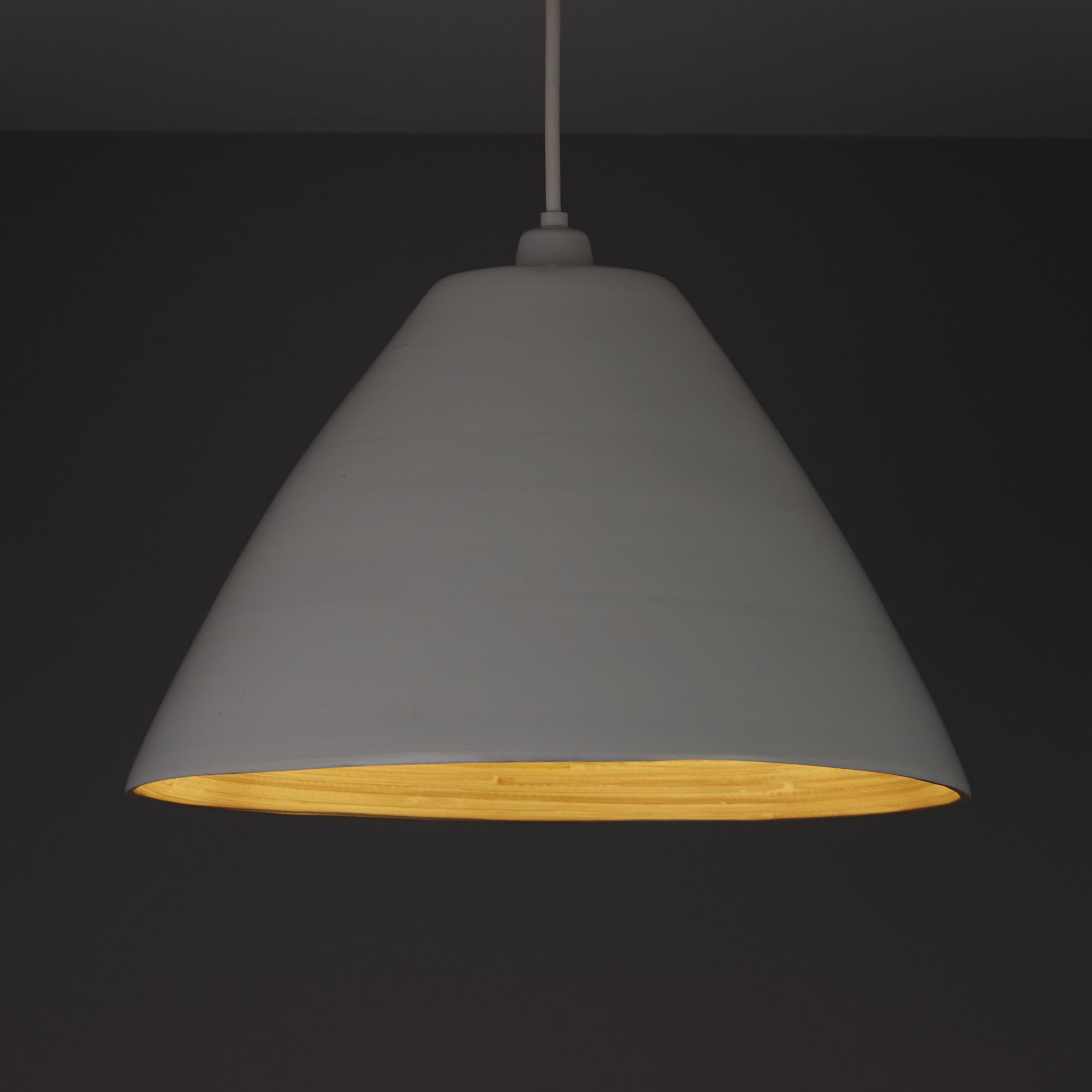 Colours Cruse White Light Shade (D)350mm
