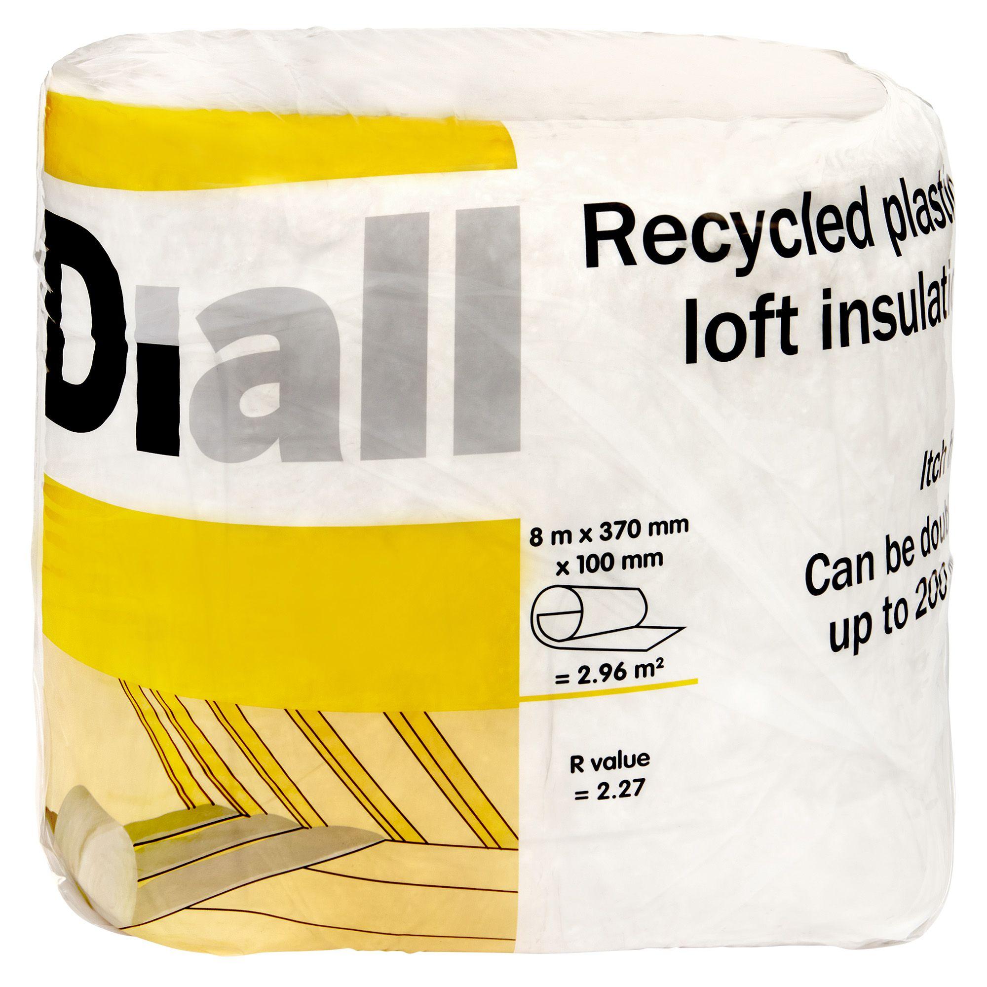 Diall Loft Insulation Roll L 8m W 0 37 M T 100mm