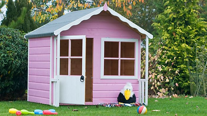 painted children's playhouse