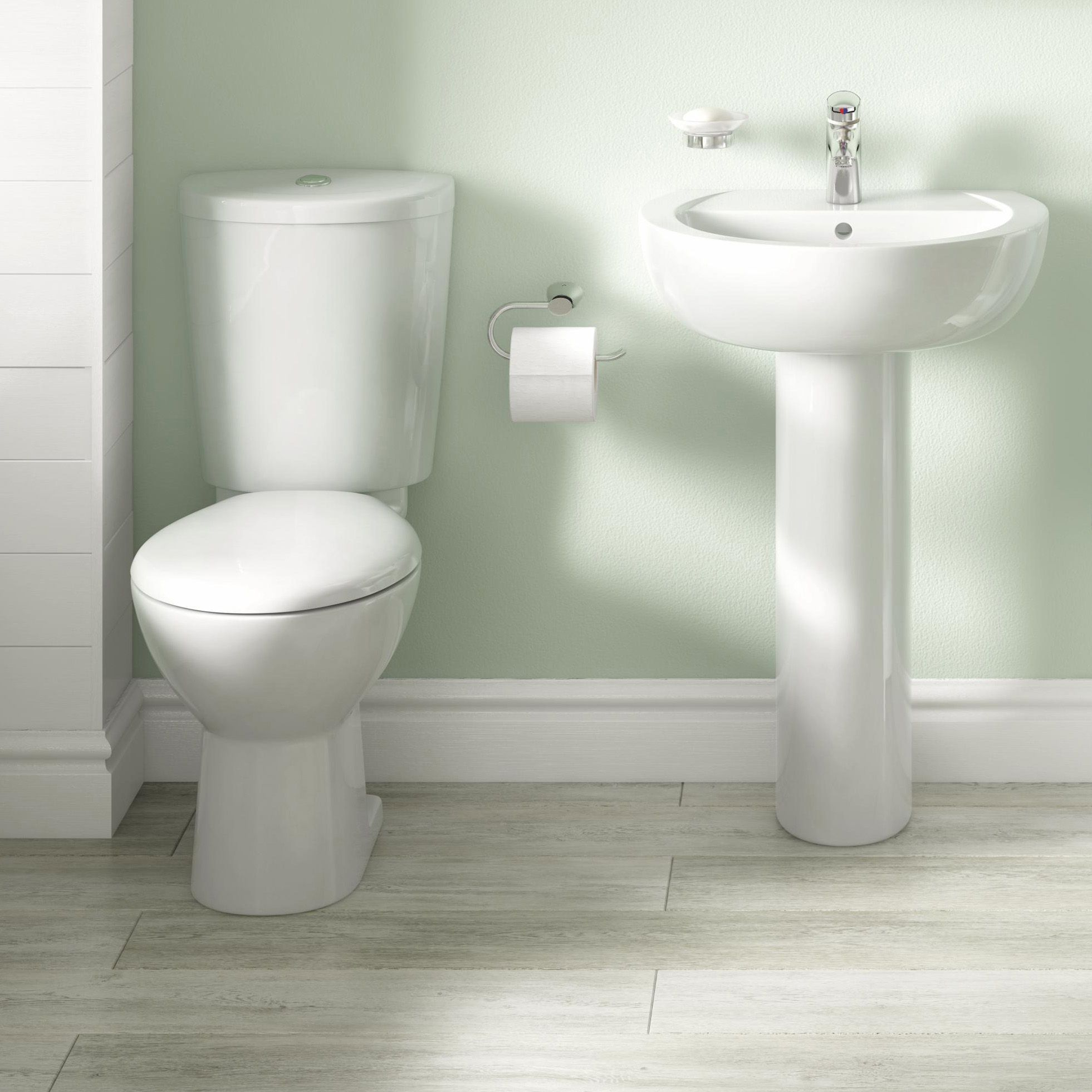 Cooke & Lewis Alonso Toilet, Basin & Tap Pack | Departments | DIY at B&Q