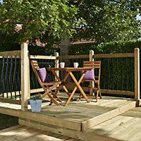 Deck² Easy build Softwood Modular deck system