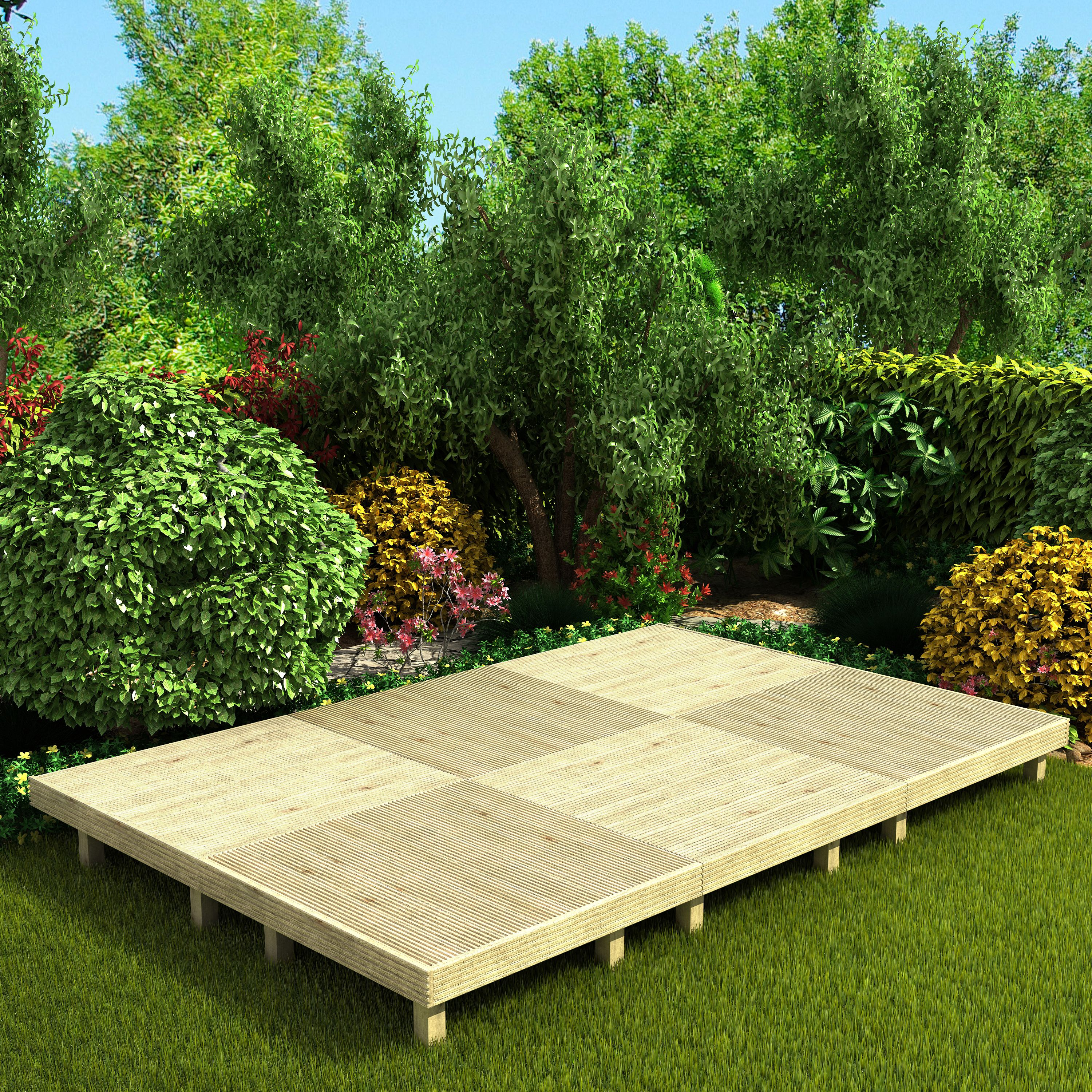 Deck² Easy build Softwood Modular deck system