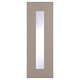 Cooke & Lewis Carisbrooke Taupe Glazed door (W)300mm