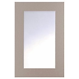 Cooke & Lewis Carisbrooke Taupe Glazed door (W)500mm