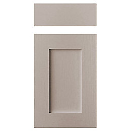 Cooke & Lewis Carisbrooke Taupe Drawerline Door &