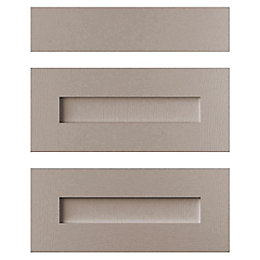 Cooke & Lewis Carisbrooke Taupe Drawer front (W)600mm,
